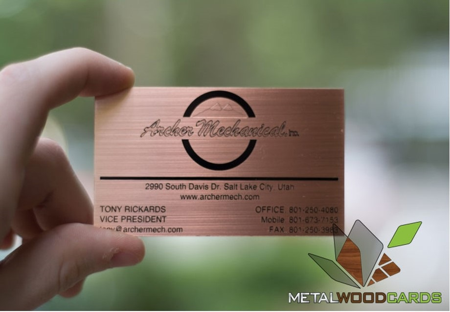 Metal Wood Business Cards - Home